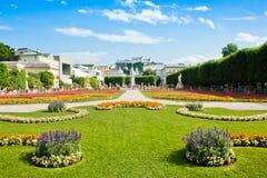 Giardini famosi di Mirabell a Salisburgo, Austria Immagine Stock Libera da Diritti