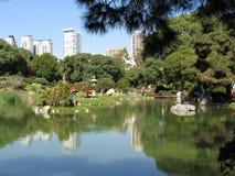 Giardini giapponesi di Buenos Aires nell'area di Palermo fotografia stock libera da diritti