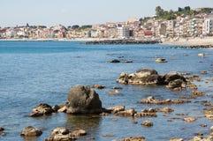 Giardini - Naxos,Sicily,Italy. City Giardini-Naxos in the Sicili, Italy Royalty Free Stock Images