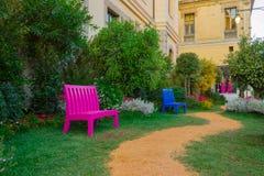 Giardini nella città Fotografie Stock