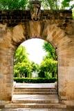 Giardini Palma de Mallorca dell'entrata dell'arco Immagini Stock Libere da Diritti