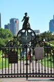 Giardini pubblici a Boston Fotografia Stock