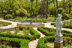 Giardini spagna del parco di Siviglia maria Luisa fotografia stock