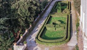 Giardini willi d ` Este Tivol, Rzym fotografia stock