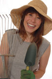 Giardiniere felice della signora Fotografia Stock