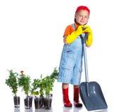 Giardiniere sveglio del ragazzo Immagini Stock