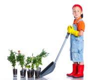 Giardiniere sveglio del ragazzo Immagine Stock Libera da Diritti