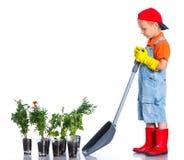 Giardiniere sveglio del ragazzo Fotografia Stock