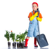 Giardiniere sveglio del ragazzo Fotografie Stock Libere da Diritti