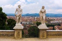 Giardino巴尔迪尼有在佛罗伦萨的鸟瞰图 库存图片