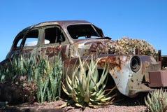 Giardino arrugginito dell'automobile Fotografia Stock Libera da Diritti