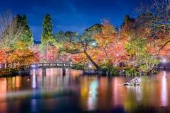 Giardino Autumn Night di Kyoto Immagini Stock Libere da Diritti