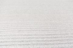 Giardino bianco della ghiaia di zen Fotografie Stock Libere da Diritti