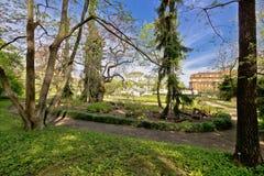 Giardino botanico della vista della flora di Zagabria Fotografia Stock