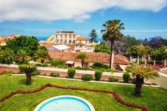 Giardino botanico nella città di La Orotava, Tenerife Fotografia Stock