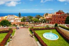 Giardino botanico nella città di La Orotava, Tenerife, isole Canarie Immagine Stock