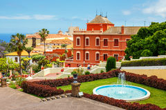 Giardino botanico nella città di La Orotava, Tenerife, isole Canarie fotografie stock