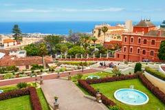 Giardino botanico nella città di La Orotava, Tenerife, isole Canarie immagini stock libere da diritti