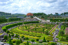 Giardino botanico tropicale di Nong Nooch, Pattaya, Tailandia Fotografia Stock