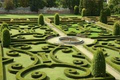 Giardino Bucovice, repubblica Ceca del castello Immagine Stock Libera da Diritti