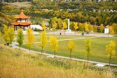 Giardino cinese Edmonton Immagini Stock Libere da Diritti