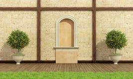Giardino classico con il posto adatto Fotografia Stock Libera da Diritti
