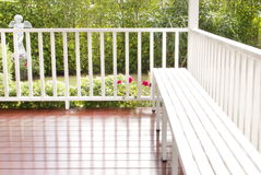 Giardino d'annata del terrazzo Immagine Stock