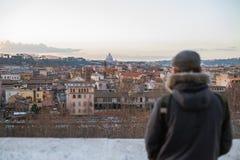 Giardino degli Aranci - Rome. Rome on the Giardino degli Aranci Royalty Free Stock Image