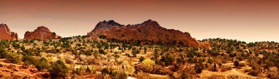 Giardino dei dei, Colorado Springs Immagini Stock