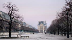 Giardino dei invalides di inverno fotografia stock libera da diritti