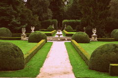 Giardino del castello Fotografie Stock