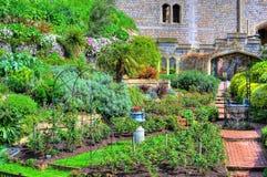Giardino del castello Immagine Stock