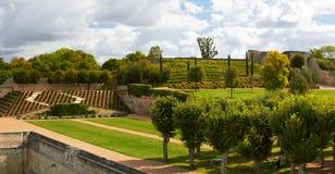 Giardino del castello di Amboise Fotografie Stock Libere da Diritti