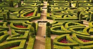 Giardino del castello di Villandry fotografie stock libere da diritti