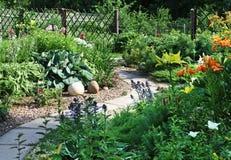 Giardino del cortile Immagini Stock Libere da Diritti