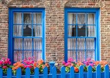 Giardino del cottage della città Immagini Stock