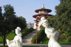 Giardino del furong del datang di Xi'an in Cina Fotografia Stock Libera da Diritti