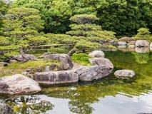 Giardino del Giappone di tradizione, giardino di zen fotografia stock libera da diritti
