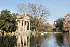 Giardino del Lago in Rome Italy Lake Stock Photo