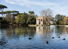 Giardino del Lago in Rome Italy Lake Stock Images