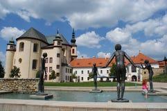 Giardino del monastero di Litomysl Fotografia Stock Libera da Diritti