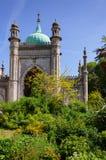 Giardino del padiglione reale e portone del nord Brighton East Sussex Southe immagini stock libere da diritti