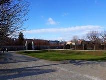 Giardino del palazzo di belvedere nell'inverno fotografia stock
