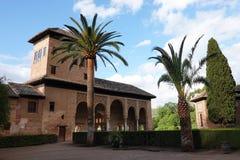 Giardino del Partal a Alhambra a Granada, Andalusia fotografie stock