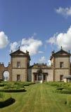 Giardino del Parterre, casetta di Chatelherault immagine stock