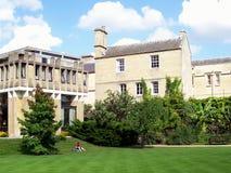 Giardino del quadrante dell'università di Oxford dell'istituto universitario di Balliol Fotografia Stock Libera da Diritti