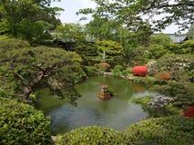 Giardino del santuario di Shiogama Immagini Stock Libere da Diritti