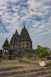 Giardino del tempio di Prambanan Fotografia Stock