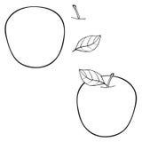 Giardino delizioso - costruisca la mela con una foglia Fotografia Stock