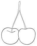 Giardino delizioso - due ciliege si sono collegate insieme ad un gambo Fotografia Stock